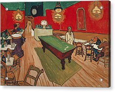 The Night Cafe In Arles Acrylic Print by Vincent van Gogh