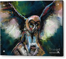 Acrylic Print featuring the painting The Night Owl by Frances Marino