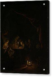 The Night School Acrylic Print by Gerard Dou