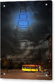 The Night The Old San Jose Railroads Cablecar Trolley 143 Reappeared . 7d12959 Acrylic Print by Wingsdomain Art and Photography