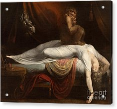 The Nightmare Acrylic Print by Henry Fuseli