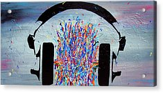 The Noise Between Your Ears Acrylic Print by Bryan Dubreuiel