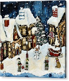 The North Pole Acrylic Print by Carrie Joy Byrnes