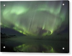 The Northern Lights Over The Denali Highway's Twin Lakes Acrylic Print