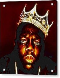The Notorious B.i.g. - Biggie Smalls Acrylic Print by Paul Ward