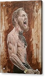 Acrylic Print featuring the painting 'the Notorious' Conor Mcgregor by David Dunne