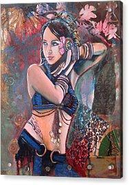 The Nouveau Gypsy Acrylic Print by Stephanie Bolton
