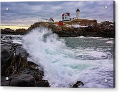 The Nubble After A Storm Acrylic Print