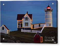 The Nubble At Christmas Acrylic Print