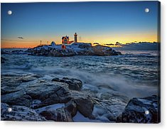The Nubble In Winter Acrylic Print