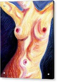 The Nude Number Three Acrylic Print by Tak Salmastyan