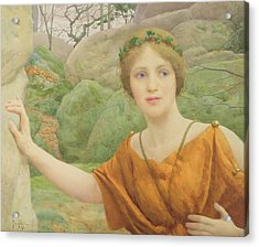 The Nymph Acrylic Print by Thomas Cooper Gotch