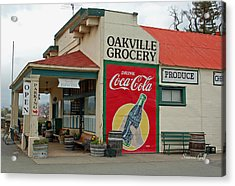 The Oakville Grocery Acrylic Print by Suzanne Gaff