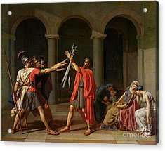 The Oath Of Horatii Acrylic Print by Jacques Louis David