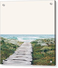 The Ocean Is Calling And I Must Go  Acrylic Print by Uma Gokhale