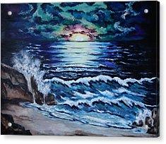 The Ocean Sings The Sky Listens Acrylic Print by Cheryl Pettigrew