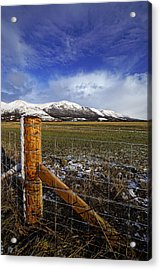 Acrylic Print featuring the photograph The Ochils In Winter by Jeremy Lavender Photography