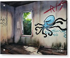 The Octopus's Garden Acrylic Print