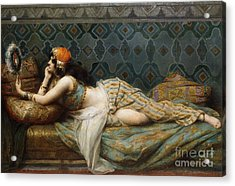 The Odalisque Acrylic Print by Adrien Henri Tanoux