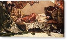The Odalisque Acrylic Print by Jean Joseph Benjamin Constant