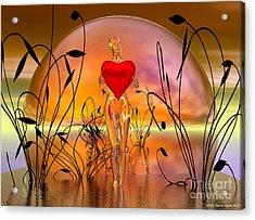The Offering Acrylic Print by Sandra Bauser Digital Art