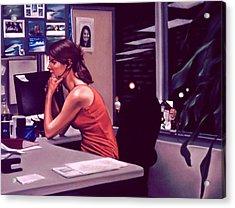 The Office Acrylic Print by Glenn Bernabe