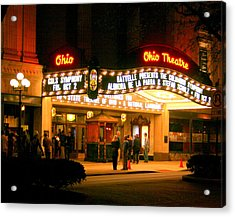 The Ohio Theater At Night Acrylic Print