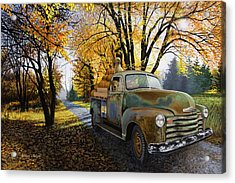 The Ol' Pumpkin Hauler Acrylic Print