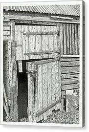 The Old Barn Door Acrylic Print by Denny Adams