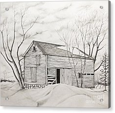 The Old Barn Inwinter Acrylic Print