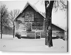 The Old Barn Acrylic Print by Julie Lueders