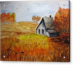 The Old Barn Acrylic Print by Maris Sherwood