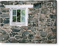 The Old Barn Window Acrylic Print