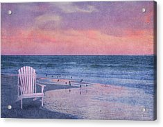 The Old Beach Chair Acrylic Print