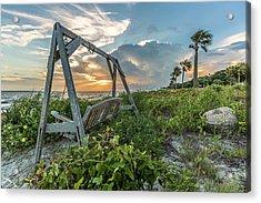 The Old Beach Swing -  Sullivan's Island, Sc Acrylic Print