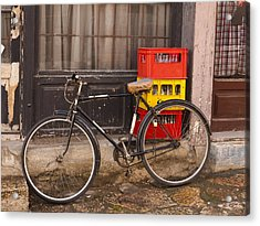 The Old Bicycle Acrylic Print by Rae Tucker