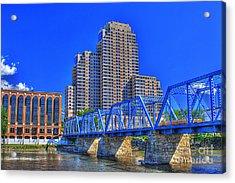 The Old Blue Bridge Acrylic Print by Robert Pearson