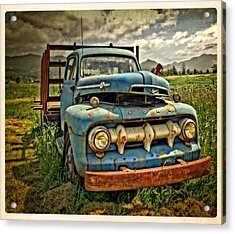 The Blue Classic Ford Truck Acrylic Print