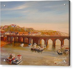 The Old Bridge - Folkestone Harbour Acrylic Print