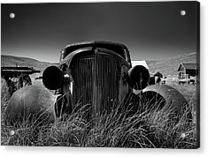 The Old Buick Acrylic Print by Marius Sipa