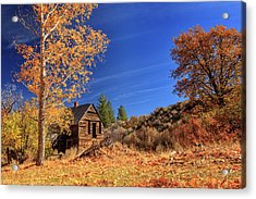 The Old Bunkhouse Landscape Acrylic Print by James Eddy