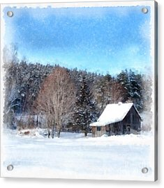 The Old Cabin Winter Etna New Hampshire Acrylic Print