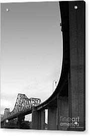 The Old Carquinez Bridge . Black And White . 7d8832 Acrylic Print