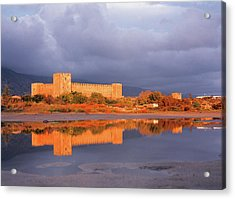 The Old Castle Bathed In In Light Acrylic Print