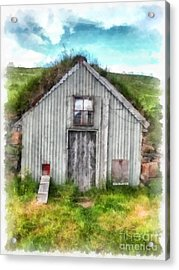 The Old Chicken Coop Iceland Turf Barn Acrylic Print