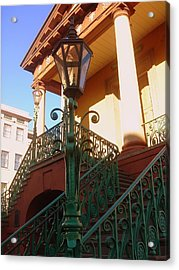 The Old City Market In Charleston Sc Acrylic Print by Susanne Van Hulst
