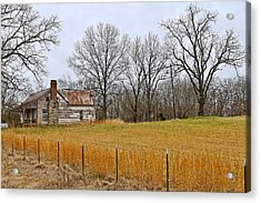 Acrylic Print featuring the photograph The Old Country Home by Ron Dubin