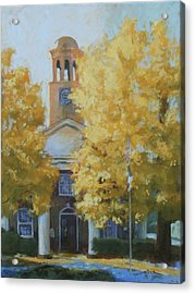 The Old Courthouse, 9am Acrylic Print by Carol Strickland