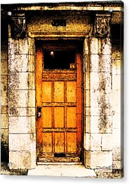 The Old Door Acrylic Print by Reb Frost