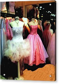 The Old Dress  Shop Acrylic Print by Pennie  McCracken